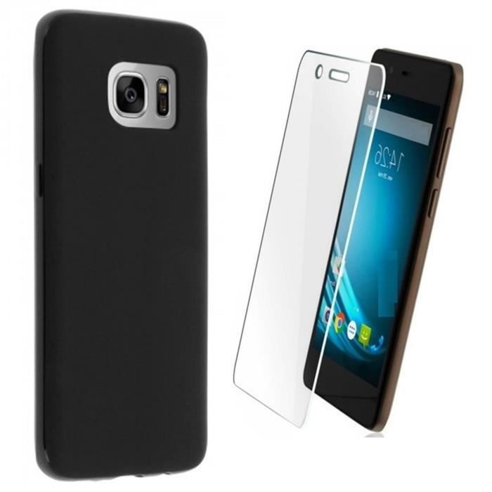 Coque Etui Housse silicone Noir SAMSUNG Galaxy S7