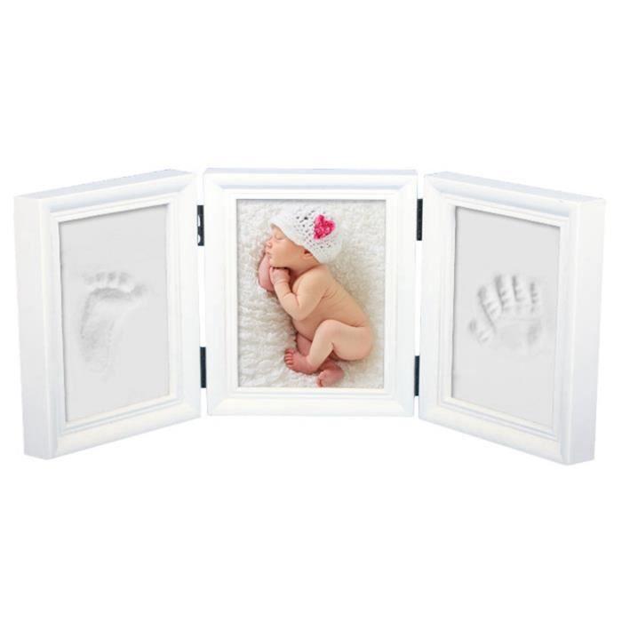 CADRE PHOTO Babyin Kit de souvenir pour bébé Empreinte main ou