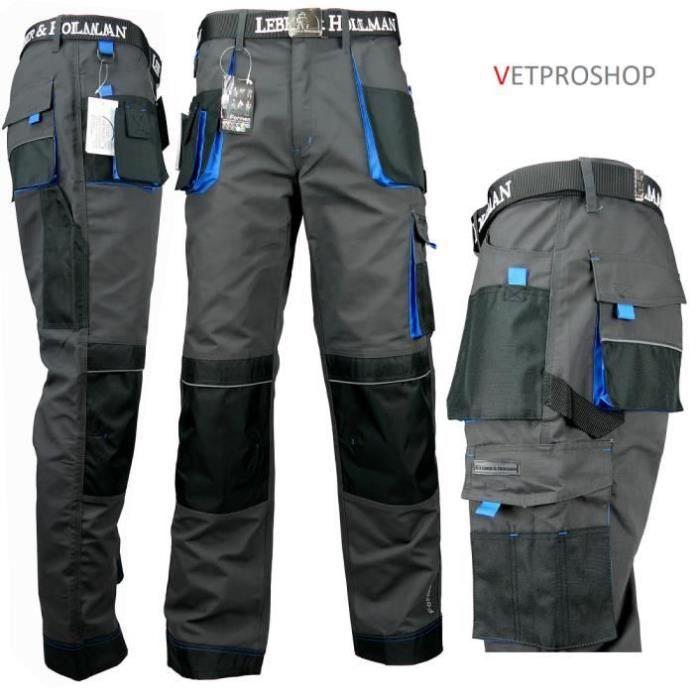 Vetement Travail Vetement Homme Haute qualit/é avec des Poches Genouillere Pantalon de Travail Homme Pantalon Travail Homme Noir Grande Taille S Multi Poches XXXL