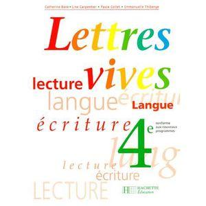 Francais Lecture 4eme Lettres Vives Programme 199