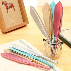 SET DE BUREAU 4pcs nouveau mignon aile plume stylo à bille stylo