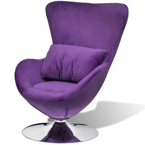 FAUTEUIL Seabrook fauteuil pivotant violet -