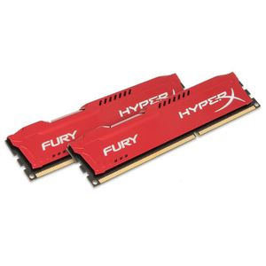 MÉMOIRE RAM HyperX FURY Red 8GB 1600MHz DDR3, 8 Go, 2 x 4 Go,