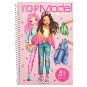 JEU DE COLORIAGE - DESSIN - POCHOIR  TOPModel 10031 Dress Me Up, tropical