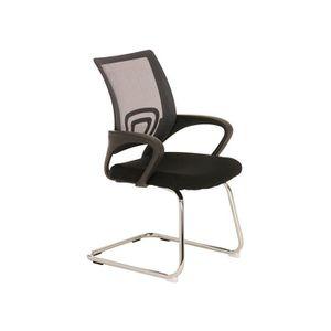 CHAISE Chaise visiteur en métal avec siège en tissu color