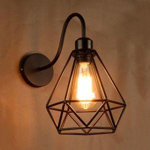 Industriel Fonte Support Mural Poulie Applique Vintage Clair Tenture Lanterne