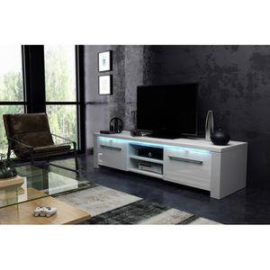 MEUBLE TV Meuble TV design MANHATTAN XL, 160 cm à 2 portes e