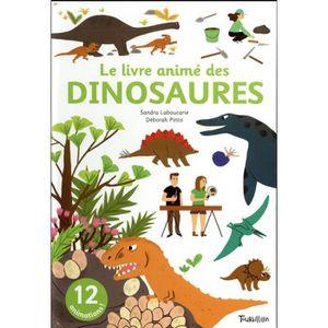 DOCUMENTAIRE ENFANT Livre - les dinosaures ; mini anim'action