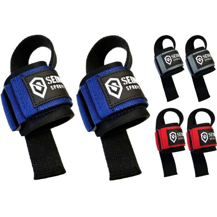 Bracelet De Force Sedroc Haltérophilie Bar sangles avec Wraps support poignet (paire) R9GSC