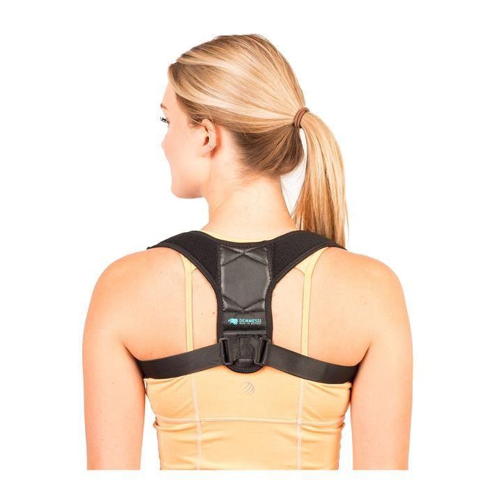 Demmessi Correcteur De Posture Dos Épaules Avachies Réglable Respirant - Orthèse De Maintien De Colonne Vertébrale Cyphose - Pour Ho