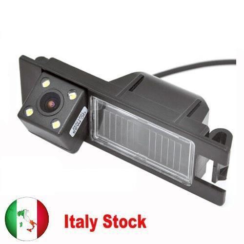 Caméra de recul HD CCD pour voiture caméra de recul avec 4 LED pour Alfa Romeo 156 159 166 147 Brera Spider 05