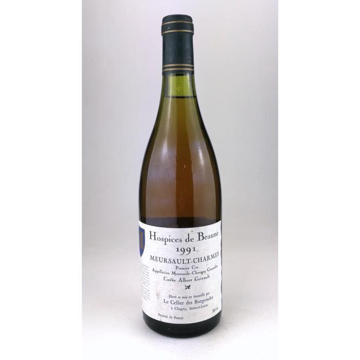 1991 - Meursault Charmes 1er Cru Albert Grivault - Hospices de beaune (Bouteille 02)