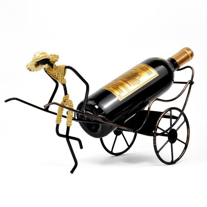 Porte Bouteille à vin Fer Passion Artisanat Salle à Manger Bar Cadeau Déco Maison 38×13.5×20cm