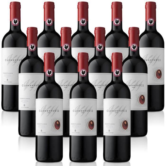 vin rouge italien Chianti Classico DOCG Clemente VII cl. 37,5 Castelli del Grevepesa Clemente 12 bouteilles 37,5 cl.