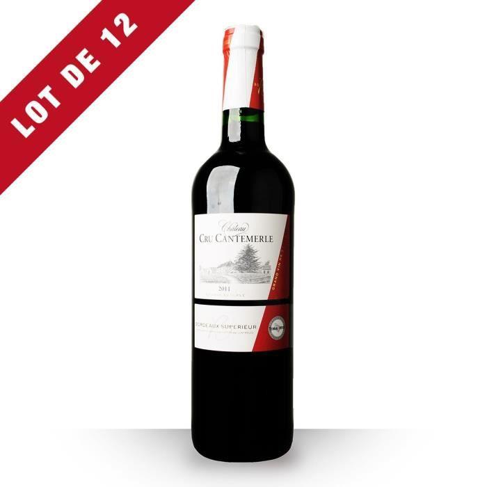 12X Château Cru Cantemerle Grande Réserve 2011 Rouge 75cl AOC Bordeaux Supérieur - Vin Rouge