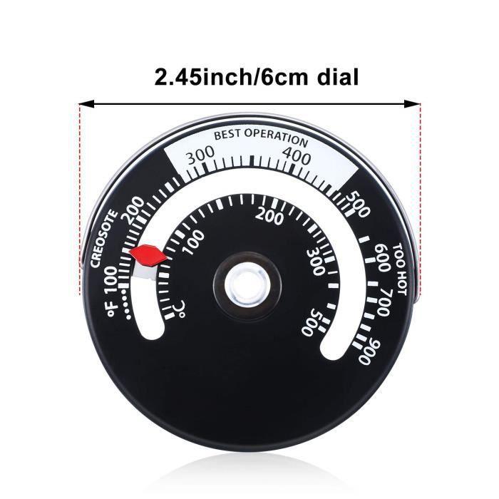 Thermomètre de température poêle à bois magnétique - UK, tuyau de poêle à bois magnétique pour - Modèle: as picture - WMCFDSB01694