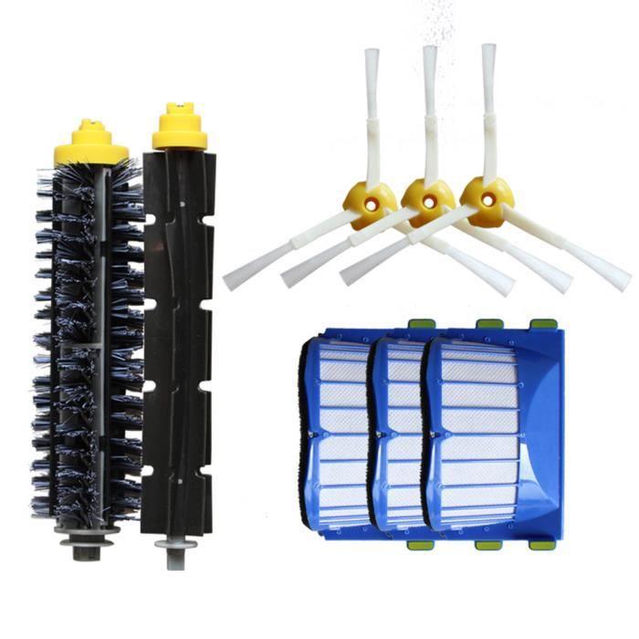 Kit de Filtre Brosse de Remplacement pour iRobot Roomba Aerovac Série 600 620 630 650 Ensemble de pièces d'aspirateur