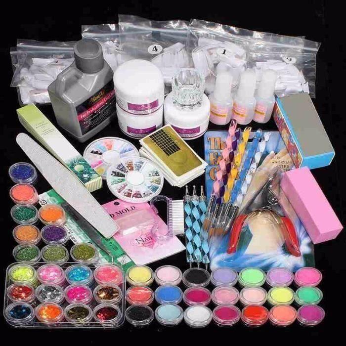 Pro Kit Manucure 42 Paillette Poudre Ongle UV Gel Acrylique L65948