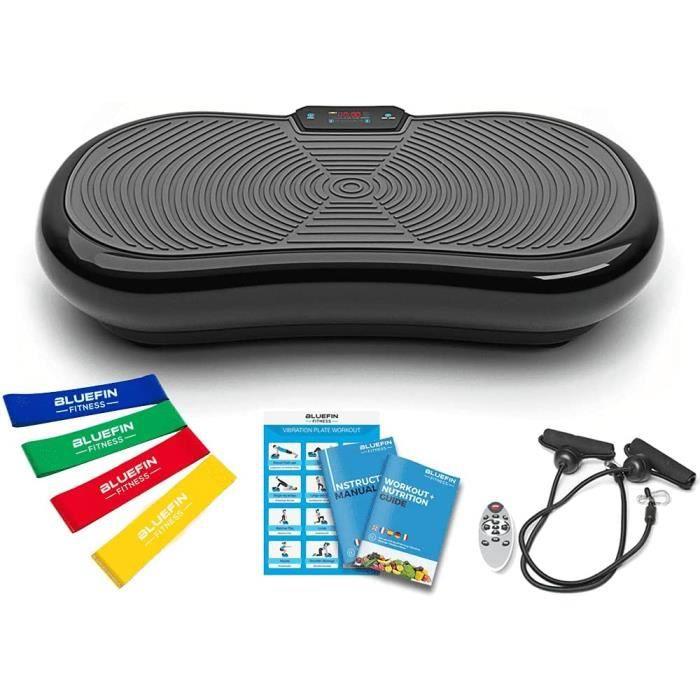 Bluefin Fitness Plateforme Vibrante et Oscillante Ultra Slim - Perte de poids & Brûleur de Graisses à la Maison - Bluetooth
