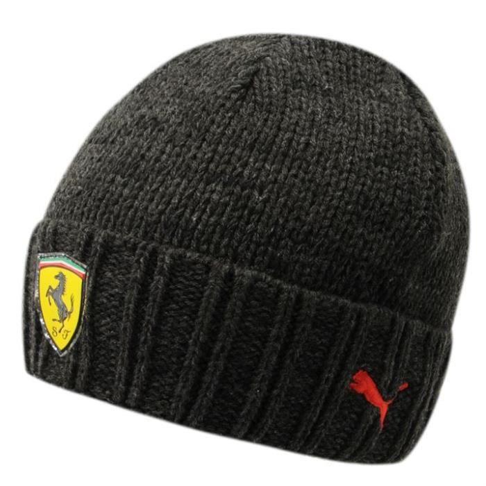 Bonnet en Laine Ferrari Official Product Noir