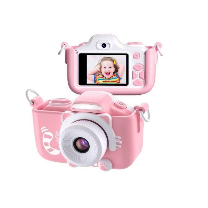 Appareil Photo pour Enfants, Caméscope Selfie pour Appareil Photo Numérique pour Petites Filles, 2 Pouces LCD / 1080P HD / 12MP / 25