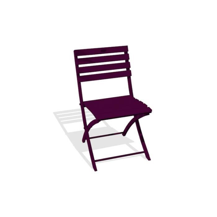 Chaise de jardin pliante en aluminium - Marius