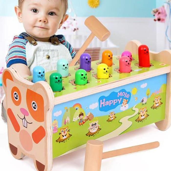 Jeu de la taupe Jouet pour enfant jouet éducatif en bois