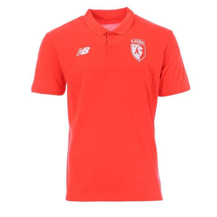 LOSC Polo rouge fluo homme New Balance