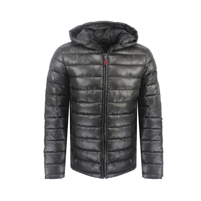 Doudoune Homme Geographical Norway Calender Hood Noir