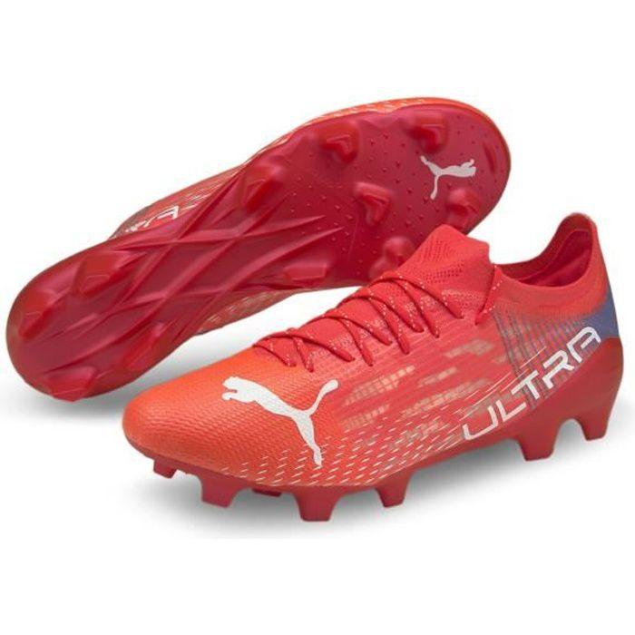 Chaussures de football Puma Ultra 1.3 FG/AG - rose flash/blanc/bleu roi - 45