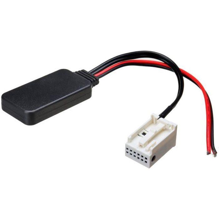 Adaptateur de bluetooth Câble Audio AUX 12PIN Pr Peugeot 207 307 407 308 Citroen C2 C3 RD4