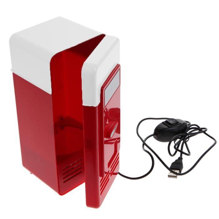 Mini Frigo USB PC Réfrigérateur Boisson Boîtes de refroidissement chauffage