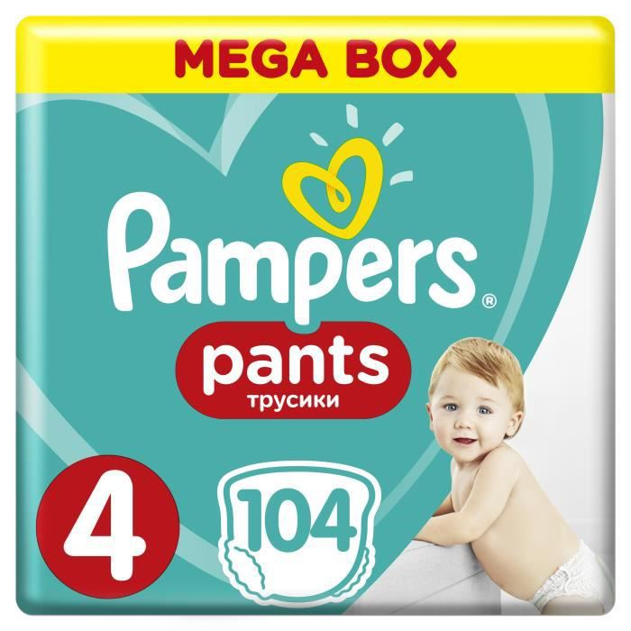PAMPERS Pants Taille 4 Maxi, 104 pcs
