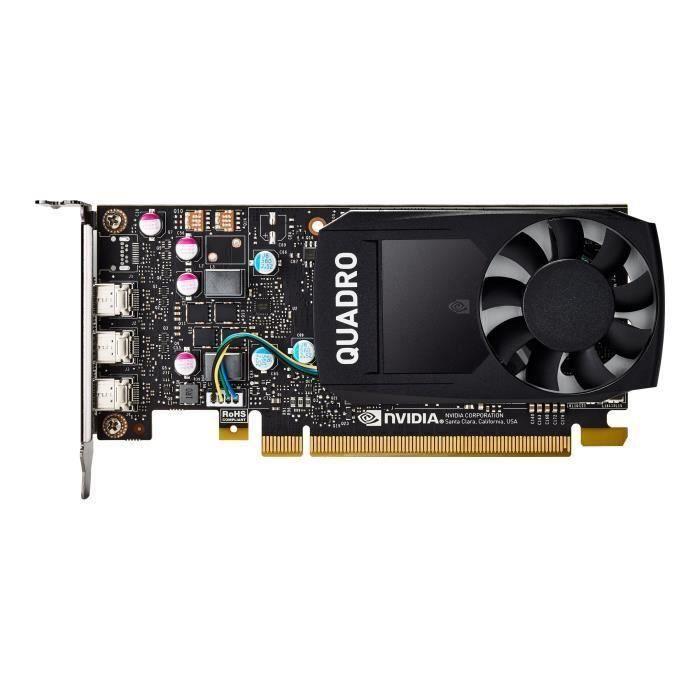 Nvidia Quadro P400 Carte graphique Quadro P400 2 Go Gddr5 Pcie 3.0 x16 faible encombrement 3 x Mini Displayport Pour la vente au...