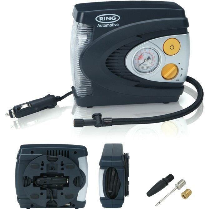 SHOT CASE - RING Compresseur d'air analogique 12v + éclairage LED RAC620