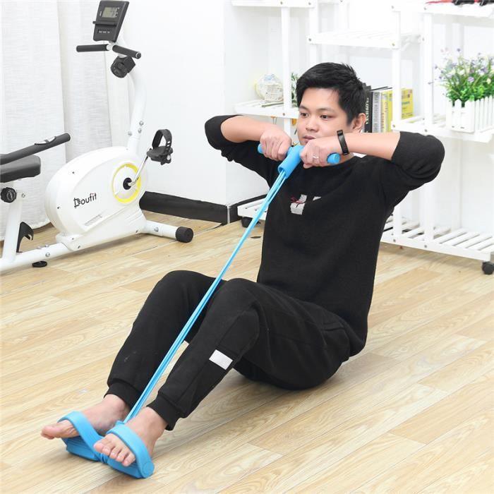 Élastique De résistance appareil de gym pieds jambe fitness exercice Bleu