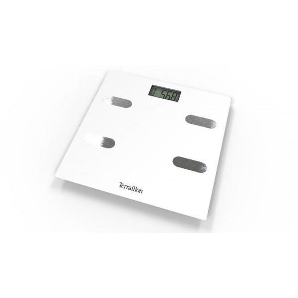 Pèse personne TERRAILLON Impédancemètre Fitness White 150 kg