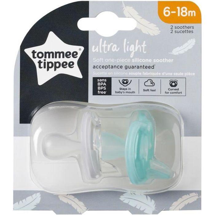 TOMMEE TIPPEE Sucette en silicone ultra légère x2 6-18 mois