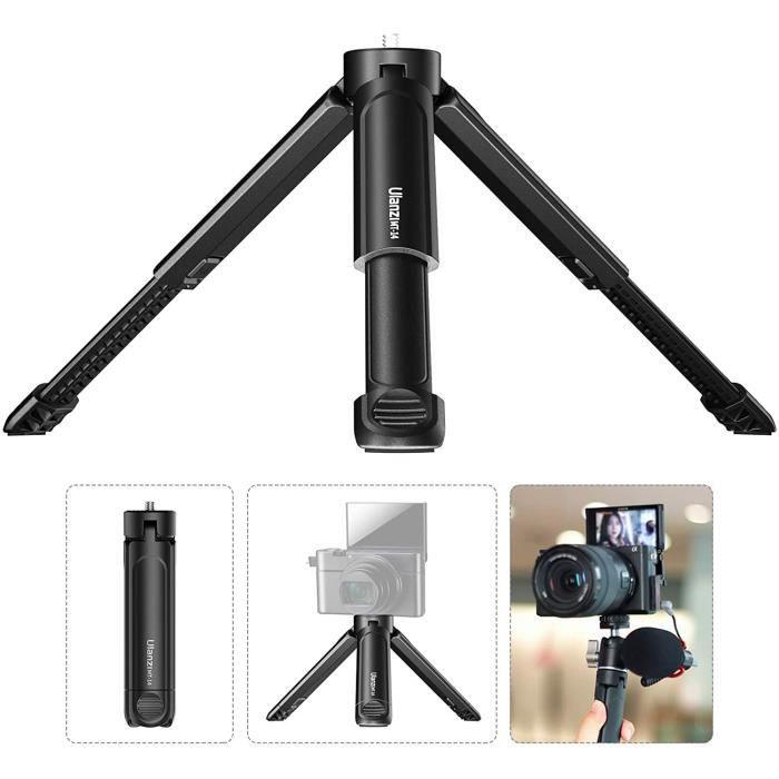 Caméra trépied Compatible avec Canon / ZV1/Sony / Nikon, Trépied Extensible Monopode, Trépied à vis 1/4 et Stabilisateur de Poignée