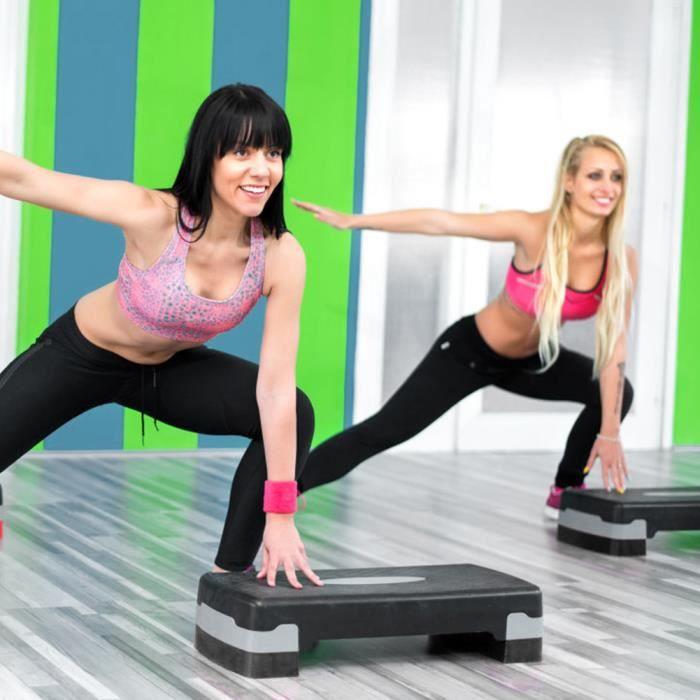 Étape de remise en forme 27 -Fitness Aerobic Step Cardio Yoga Pedal Stepper for Gym Workout Exercise ABI34