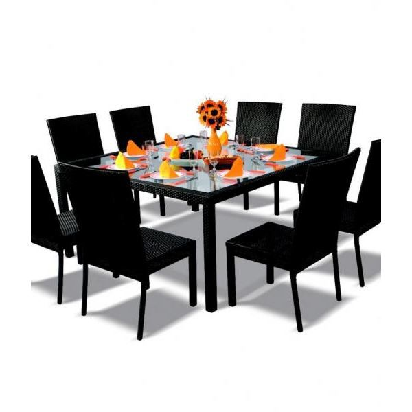 table de jardin carre. Black Bedroom Furniture Sets. Home Design Ideas