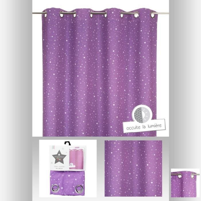rideau occultant violet toil pour chambre enfant achat. Black Bedroom Furniture Sets. Home Design Ideas