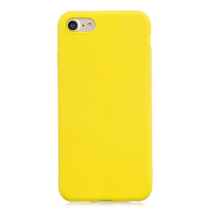 coque iphone 8 silicone jaune