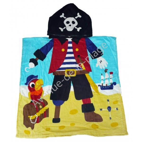 poncho cape de bain pirate la plage achat vente. Black Bedroom Furniture Sets. Home Design Ideas