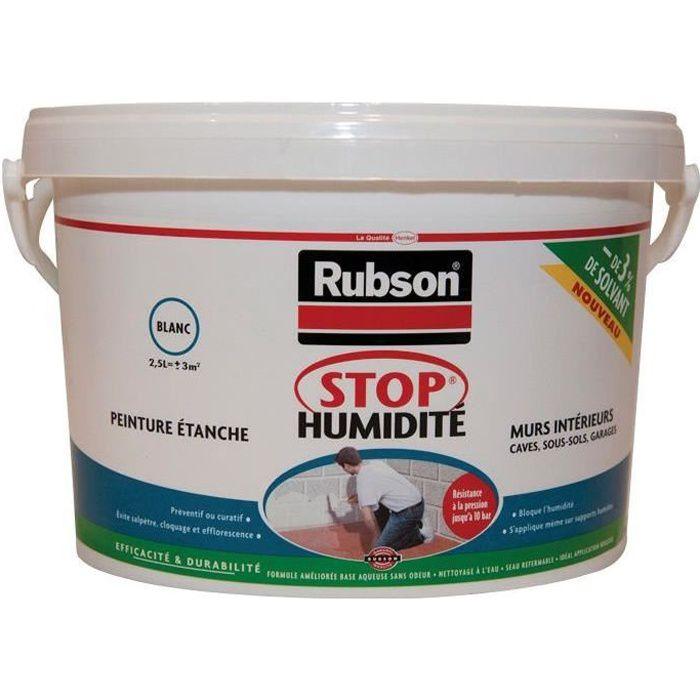 Stop Humidité Mur Et Cave Blanc 2 5 L