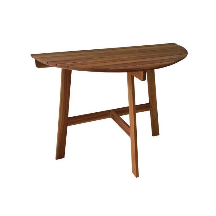 Demi table de jardin pliante en acacia FSC longueur 100cm ...