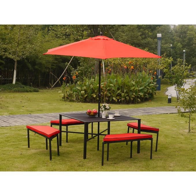 salon de jardin haut avec parasol manhattan achat vente salon de jardin salon de jardin haut. Black Bedroom Furniture Sets. Home Design Ideas
