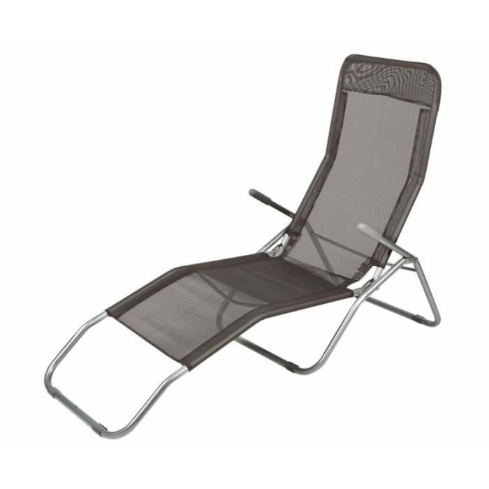 Spetebo chaise longue pieds pliables anthracite for Chaises longues pliables