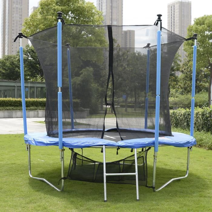 trampoline de jardin complet rond 183 cm avec filet de s curit et chelle achat vente. Black Bedroom Furniture Sets. Home Design Ideas