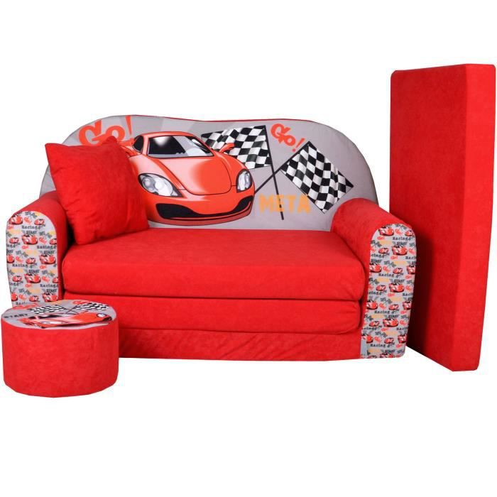 lit enfant fauteuils canap sofa pouf et coussin racing achat vente canap sofa divan. Black Bedroom Furniture Sets. Home Design Ideas